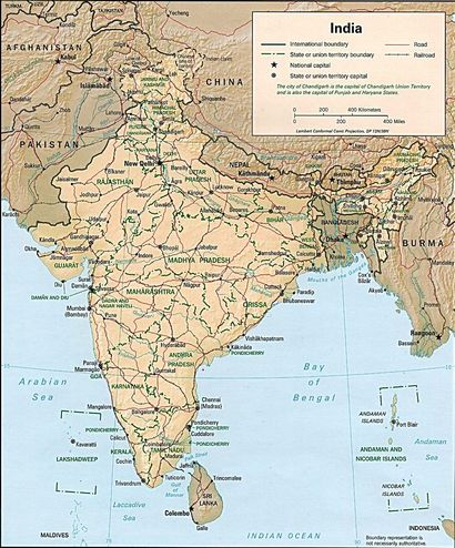 World's Largest Democracy map