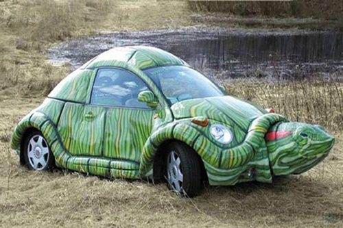 乌龟什么颜色好_乌龟造型车
